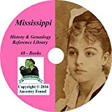 Mississippi History and Genealogy- 48 Books on DVD Ancestry, Records, Family Tree