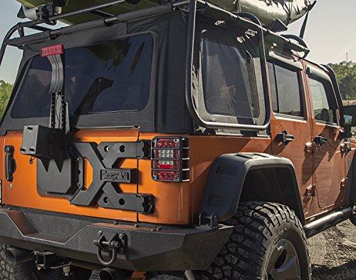 Rugged Ridge 11546 50 Hd Tire Carrier Kit For Jeep Jk