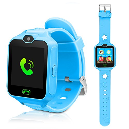 DUIWOIM Kids Smart Watch, Phone Watches for Girls Boys, Digital Wrist Watch, Smart Watch for 3-14 Years Old, Touch Screen Camera Anti-Lost SOS Button Smartwatch Great Gift for Children (Blue)