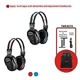SIMOLIO 2 Pack of IR Wireless Headphones for Car DVD/TV, 2 Channel Car
