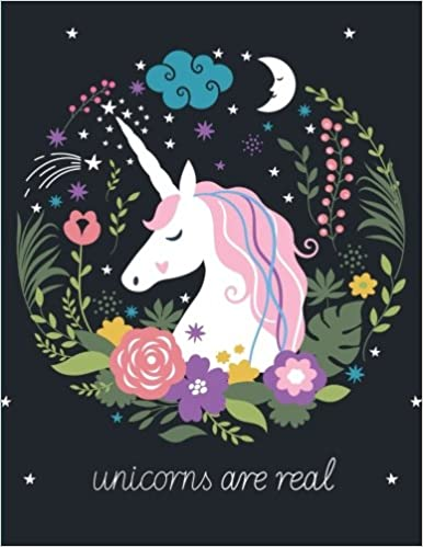 unicorns are real unicorn flowers notebook composition book