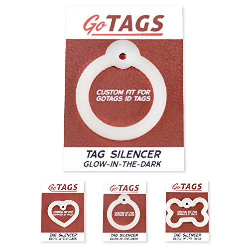 GoTags Dog Tag Silencer, Glow in The Dark, Silence Noisy Pet Tags