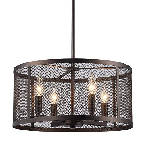 Metal Drum Pendant Light