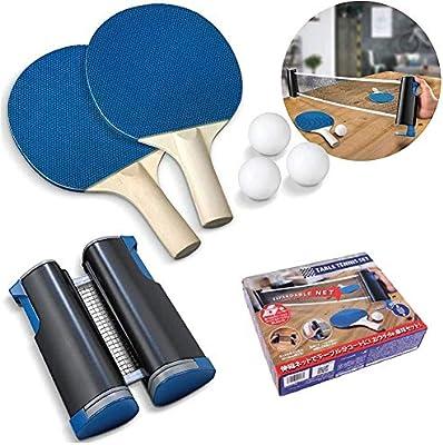 ZYYIN Rack de Tenis de Mesa retráctil, Juego de Ping Pong Juego de Tenis de Mesa retráctil portátil Raqueta de Tenis de Mesa, Escuela, el hogar, el Club Deportivo: Amazon.es: Deportes y