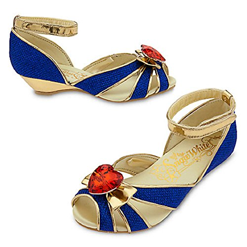 [Disney Snow White Costume Shoes Kids 7/8] (Costumes Shoes For Kids)