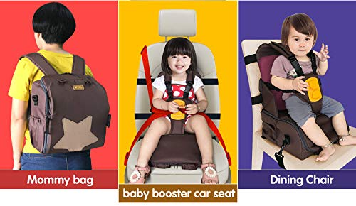 3 in 1 Baby Seat Portable Kids Cover Shoulder Harness Strap Seatbelt Adjuster for Child Mommy Bag Feeding Chair Toddler seat