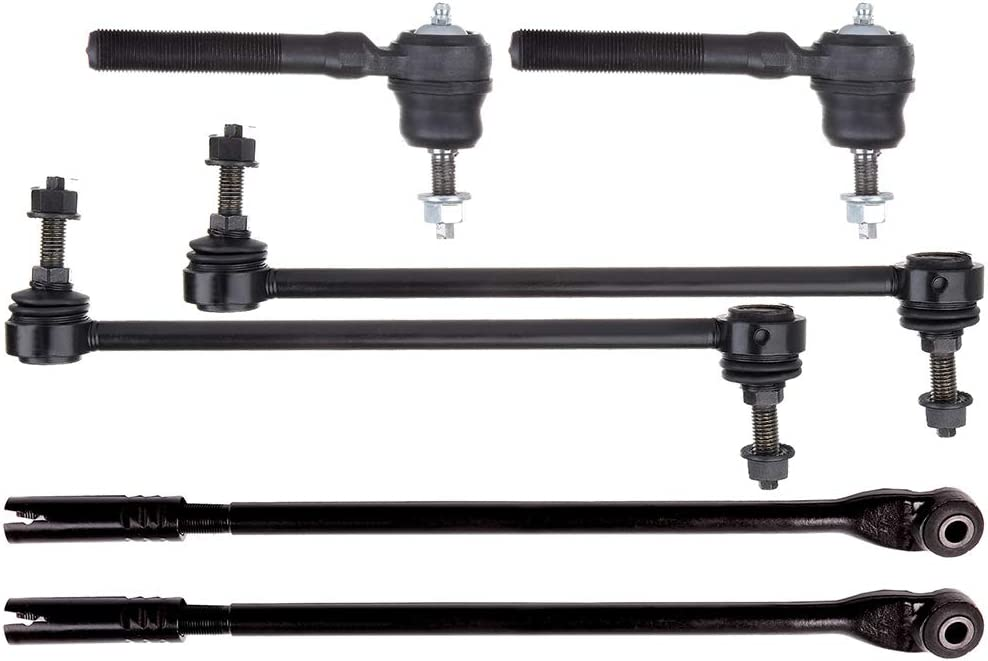 New 6-Piece fit for Chrysler 300M Concorde Intrepid LHS Dodge Intrepid OCPTY 2 Front Sway Bar Bar End Link 2 Outer 2 Inner Passenger Driver Side Tie Rod End