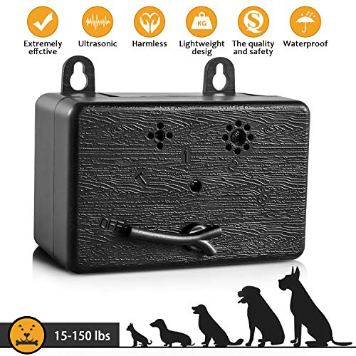 CAPKIT Dog Bark Control Device 50 FT Range Barking Device, Ultrasound Mini Outdoor Dog Bark Control, Anti-bark Deterrent, Training Tools, Indoor/Outdoor Stop Bark Security for Dogs