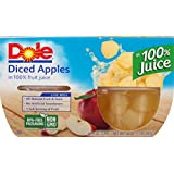 Dole Fruit Bowls, Diced Apples in 100% Fruit Juice, 4 Ounce (Pack of 4)
