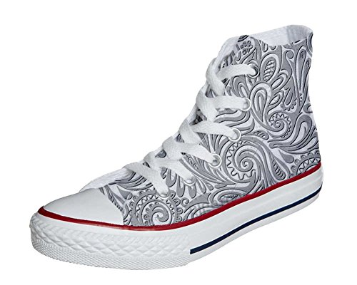 Converse All Star personalisierte Schuhe (Custom Produkt) Light Paisley