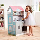Posh Double the FUn Dollhouse and Play Kitchen in 1 Amazing Playset, Interchangeable Sides from Kitchen to a 3 Level Dollhouse Complete with Accesories! Perfect for Small Spaces.