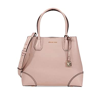 e5bca68dbbed Amazon.com  Michael Kors Mercer Gallery Medium Pebbled Leather Satchel-  Fawn  Shoes