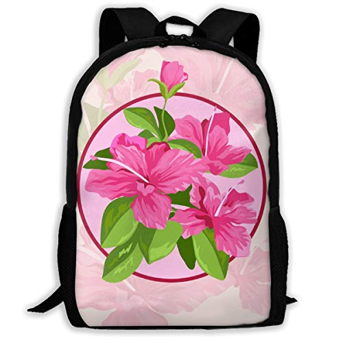 - PengLi Azalea Flowers and Leaves Adult Outdoor Leisure Sports Backpack and School Backpack