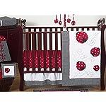 Sweet-Jojo-Designs-11-Piece-Red-and-White-Polka-Dot-Ladybug-Baby-Girl-Bedding-Crib-Set-Without-Bumper