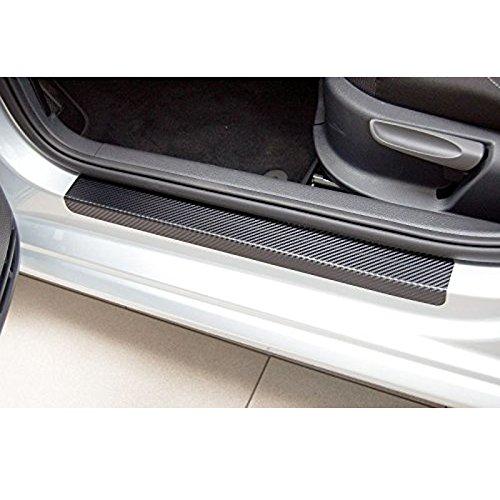 Muchkey For ASX Lancer RVR 2011 2012 2013 2014 2015 car door sill scuff carbon fiber Stickers 4pcs Rice Rocket Black MyHUang