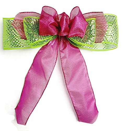 hot pink lime gift bow birthday shower bow bridal shower bow gift basket birthday gift bows