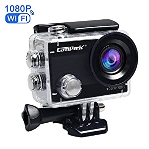 Campark ACT68 Action Camera WiFi 2.7K 12MP Full HD 1080P Waterproof Underwater Cam with 170 Wide-Angle Lens and Rechargeable Battery,include 30M Waterproof Case with Mounting Accessories Kit