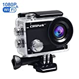 Campark ACT68 Action Camera WiFi 2.7K 12MP Full HD 1080P Waterproof Underwater Cam with 170 Wide-Angle Lens and Rechargeable Battery,include 30M Waterproof Case and Portable Package