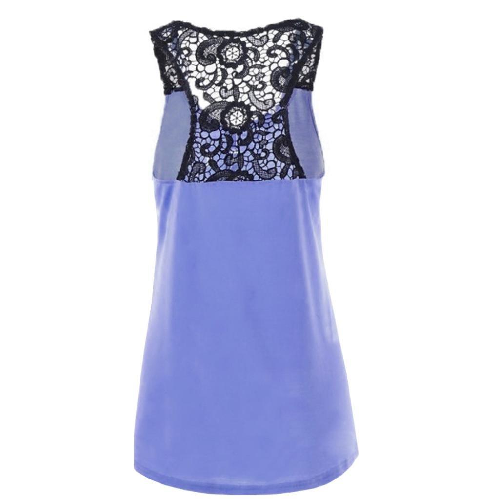 AOJIAN T Shirt Women Summer Lace Crop Tank Vest Plus Size Blouse Tops Fashion