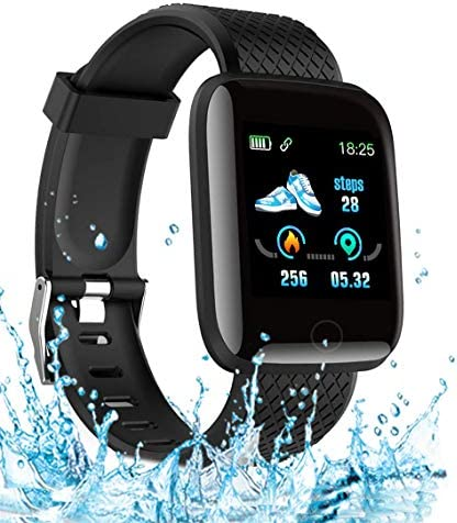 2020 New Model Smart Watch, Men's and Women's Fitness Tracker, Blood Pressure Monitor, Blood oximeter, Heart Rate Monitor, Waterproof Smart Watch, Compatible with iPhone/Samsung/Android Phones