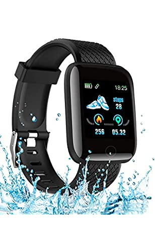 Smart Watch 2020 New Model, Men?s and Women?s Fitness Tracker, Blood Pressure Monitor, Blood oximeter, Heart Rate Monitor, IPX7 Waterproof Smart Watch, Compatible with iPhone/Samsung Android Phones