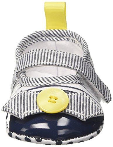 Brums 171belp001 - Patucos de Lona para niña multicolor Size: Multicolore (Bianco/Blu 01)