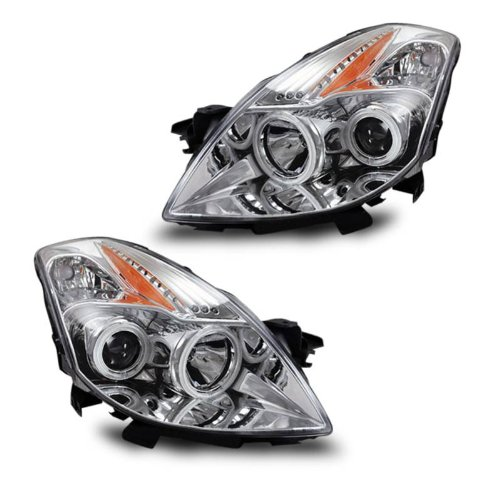 SPPC Projector Headlights Chrome (CCFL Halo) For Nissan Altima 2 Door - (Pair)