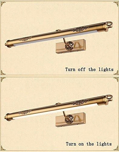 Global- Amerikanische Simplicity Style LED Legierung Kupfer Plating Licht Körper Acryl Lampenschirm Spiegel Frontlicht, WC Badezimmer Spiegel Kabinett Lichter Kreative Make-up Beleuchtung(Länge 62cm)