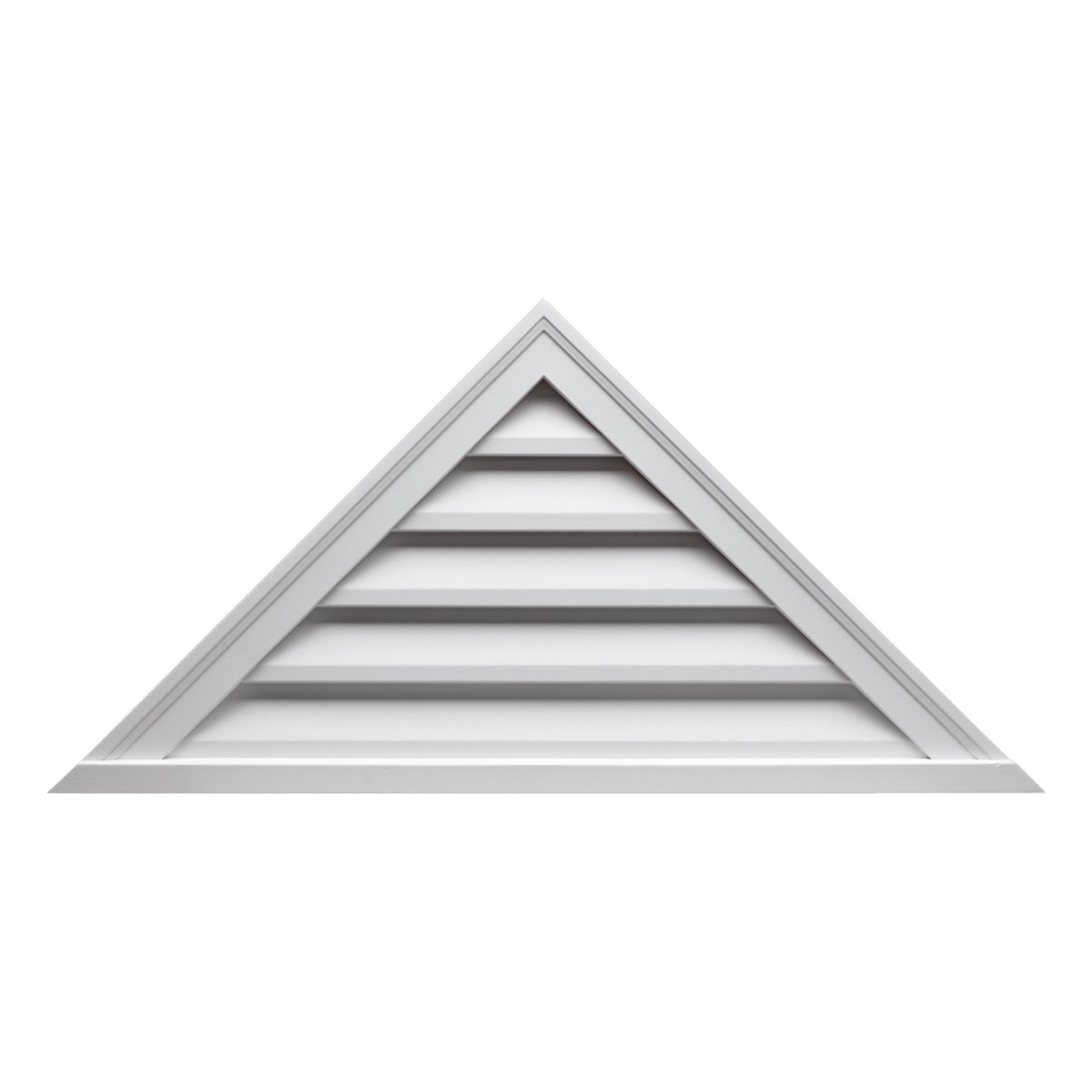 Fypon FTRLV60X18 60''W x 17 1/2''H Pitch 7/12, Triangle Functional Louver