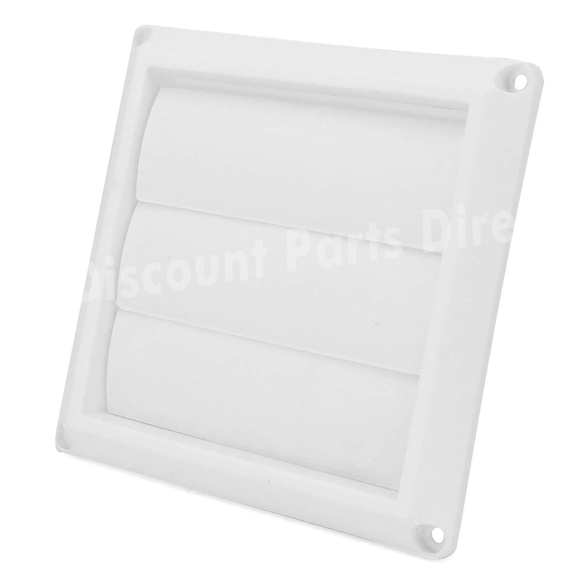 Outdoor Dryer Air Vent Cover Cap 4 Louvered Cover White Exterior Wall Vent Hood Outlet Airflow Vent