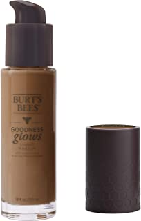 product image for Burt's Bees Goodness Glows Liquid Makeup, Chestnut - 1.0 Ounce