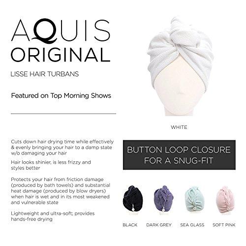 Aquis - Original Hair Turban, Patented Perfect Hands-Free Microfiber Hair Drying, Retro (10 x 26 Inches)