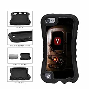 aqiloe diy Personalized NYC Train Custom Letter V 2-Piece Dual Layer Phone Case Back Cover Apple iPod Touch 5th Generation