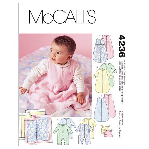 McCall's Patterns M4236 Infants' Buntings, Jumpsuits, Hats and Blanket