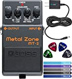Boss MT-2 Metal ZoneA VERY WIDE RANGE OF DISTORTION SOUNDS WITH 3-BAND EQ AND STRONG SUSTAIN.The MT-2 Metal Zone is one of BOSS' most popular pedals. This stompbox provides some of the most over-the-top, insane distortion tones in the world-with huge...