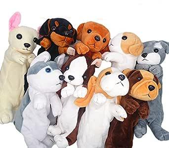 Estuche para lápices de peluche con diseño de perro para niños 25 cm Schnauzer: Amazon.es: Hogar