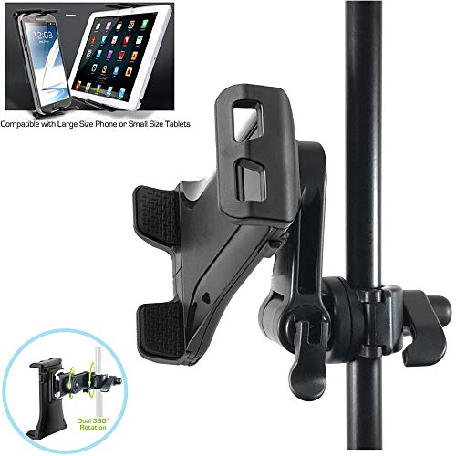 (ChargerCity Custom Music/ Microphone Tablet Stand Mount with Multi Swivel Adjustment Holder for New Apple IPAD MINI Google Nexus 7 KINLE Fire BN Nook HD Color Samsung Galaxy Tab 7 7.7 & other 7