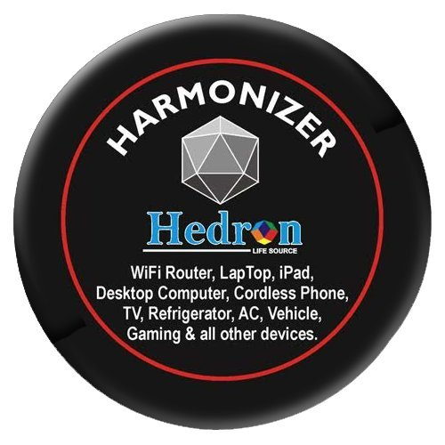 HEDRON HARMONIZER FOR LARGER ELECTRONIC DEVICES EMF EMR SHIELD RADIATION PROTECTION STICKER