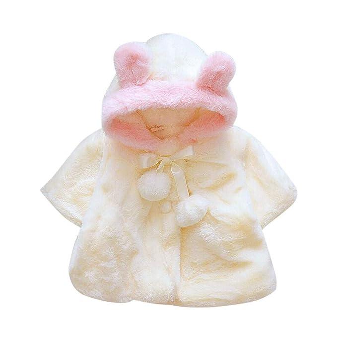 Bestow Bebé Invierno Piel de Invierno para niñas Abrigo cálido Abrigo Chaqueta Gruesa Ropa de Abrigo