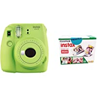 Fujifilm Instax Mini 9 Instant  Camera (Lime Green) with Film (60 Shots)