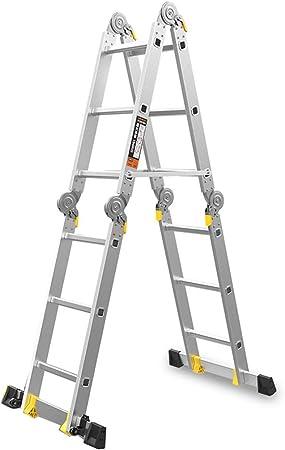 LPZ Escalera de Tijera Escalera telescópica Escalera Plegable multifunción Escalera en Espiga Escalera Recta de Aluminio Portátil (Size : 3.7m): Amazon.es: Hogar