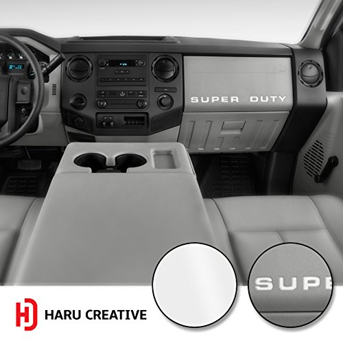 Haru Creative - Ford Super Duty F250 F350 F450 (2008-2016) Dashboard Glove Box Letter Insert Overlay Vinyl Decal - Gloss (Super Duty Gloves)