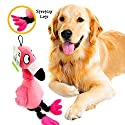 Pet Craft Supply Flamingo Jiggle Giggle Funny Giggling Sound Wiggly Shaking Tug Fetch Soft Chew Plush Dog Toy