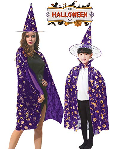 Garlagy 2 Pack Halloween Costumes Kids Adult Witch