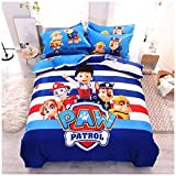 Peachy Baby Featuring Paw Patrol Bedding Sheet Set Queen King Twin Double Full Size 【Free Express Shipping】【100% Cotton】 Cartoon Ryder Chase Marshall 【No Comforter Included】 (Single/Twin Size)