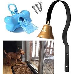 Dog Bell, STYDDI Potty Training Bell Doorbell for Housebreaking and Housetraining (Black)