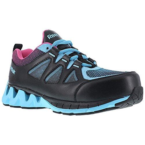 RB325 Reebok Women's ZigTech Safety Shoes - Blue/Pink - 10.0 - W