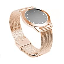 Tonsee Steel Wristband Strap Bracelet Sleep Fitness Monitor For Misfit Shine 2 - Rose Gold