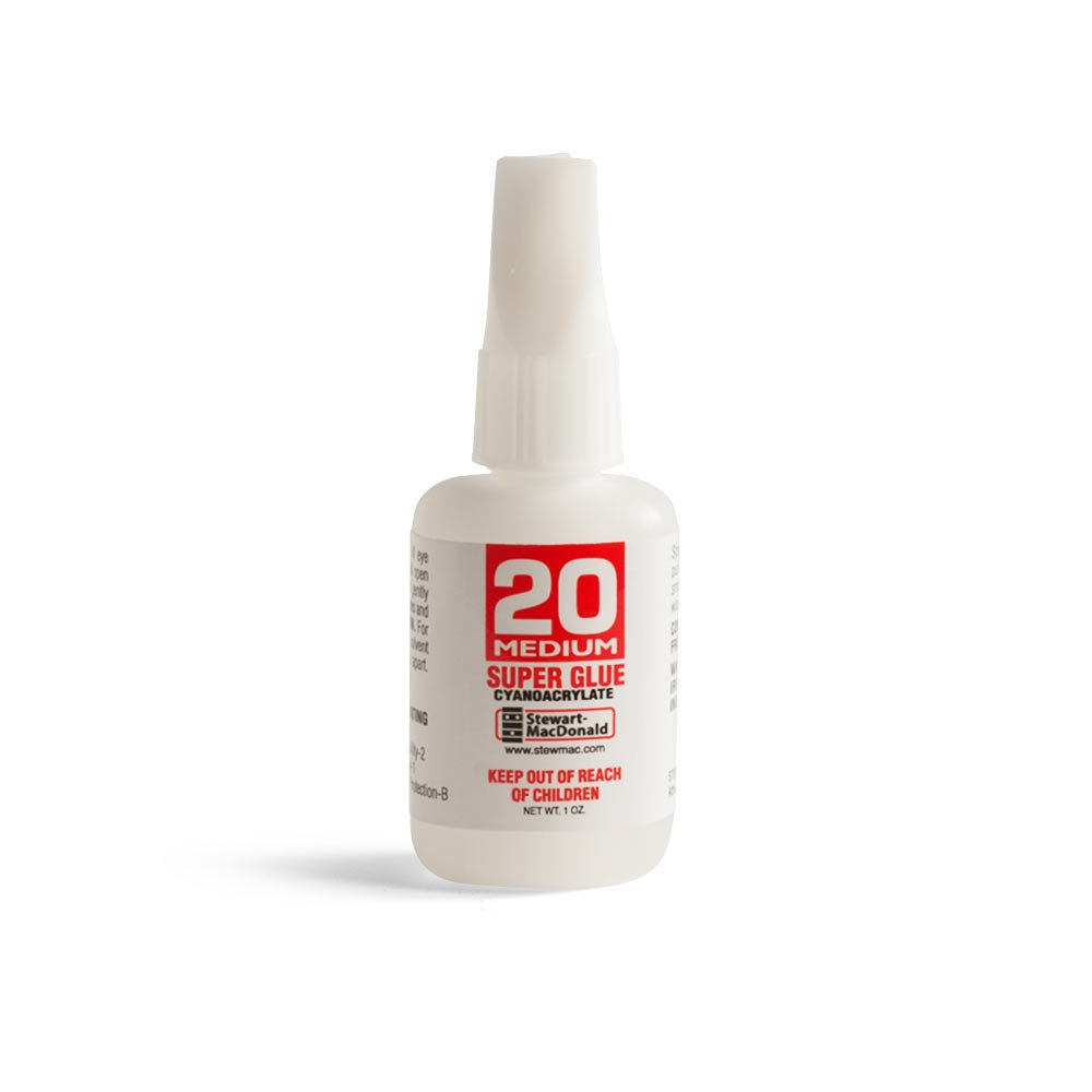 StewMac Super Glue, 20 Medium, 1 oz.