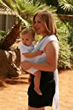 Beachfront Baby Wrap – The Versatile Water & Warm Weather Baby Carrier | Made in USA with Safety Tested Fabric, CPSIA & ASTM Compliant | Lightweight, Quick Dry & Breathable (White Wave, One-Size)